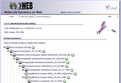 MDWeb  Molecular Dynamics on Web