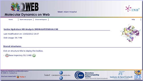 MDWeb  Molecular Dynamics on Web